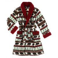 Bear Fair Isle Bathrobe-S/M