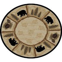 Toccoa Bear Round Area Rugs