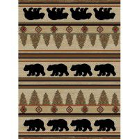Appalachian Bears Area Rugs