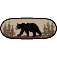 Walking Bear Oval Rug