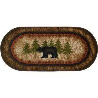 Birch and Bear Oval Rug