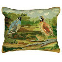 Quails in the Woods Pillow