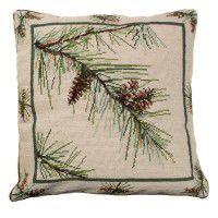 Pine Bough Needlepoint Pillow