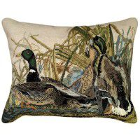 Audubon Mallard Needlepoint Pillow