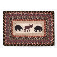 Bear and Moose Jute Rectangle Rug 20 x 30