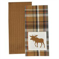 Moose Dishtowel Set of 2