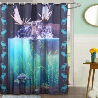 Moose Shower Curtain with 12 Hooks