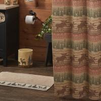 Moose Jacquard Shower Curtain