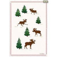 Moose on The Loose Kitchen Towel 100% Cotton