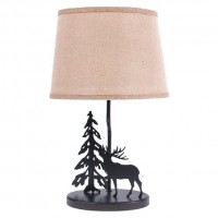 "18"" Burlap Shade Moose Lamp-CLEARANCE"