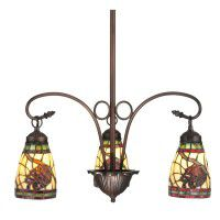 Pinecone Dome 3 Lt Chandelier