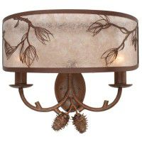 Balsam Pine Double Wall Sconce
