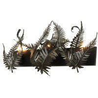 Timeless Bronze Triple Fern Vanity Light
