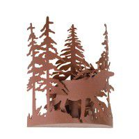 Elk Through The Trees Wall Sconce
