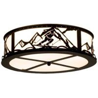 Skier Flushmount Ceiling Light