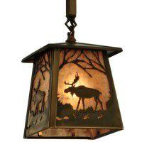 Moose At Dawn Mini Pendant Light