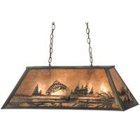 Leaping Trout Oblong Pendant Light