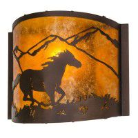 Running Horse Sconce