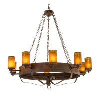 Parnella 10 Light Chandelier - Lights On
