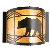 Lone Black Bear Wall Sconce