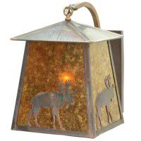Stillwater Lone Moose Curved Arm Wall Sconce