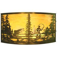"42"" Fly Fishing Wall Sconce"