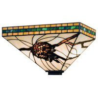 Stained Glass Pine Cone Sconce
