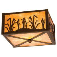 Reeds & Cattails Flush Ceiling Light