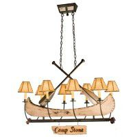 Canoe Chandelier - 8 Light