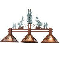 Winter Pine Tree 3-light Island Pendant