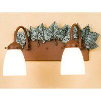 Maple Leaf Double Vanity Light