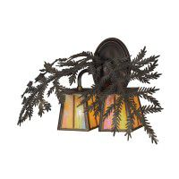 Pine Branch 2 Lt Wall Sconce