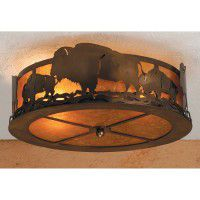Buffalo Heard Ceiling Light