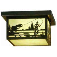 Fish Creek Flush Ceiling Light