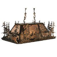 Moose At Dusk Oblong Pendant Light