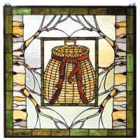 Fishing Basket Stained Glass Window