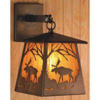 Lantern Moose Sconce