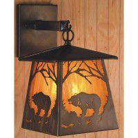 Lantern Bear Sconce