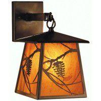 Lantern Pine Cone Sconce