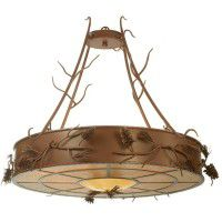 Woodland Pine Inverted Pendant Light