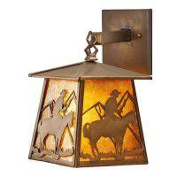 Cowboy Mountain Lantern Sconce