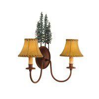 Lodge Pole Pine Wall Sconce