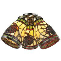 Pine Cone Dome Fan Light Shades