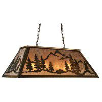 Mountain Range Oblong Pendant Light