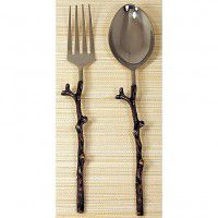 Antique Copper Twig Serving Set