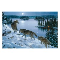 Nite Wolves Lighted Canvas 24 x 16
