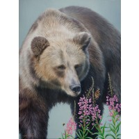 Nonchalance Bear Printed and Signed Canvas