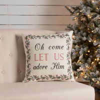 "Oh Come Home Pillow 18"" x 18"""