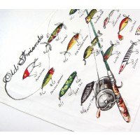 Baits & Lures Fishing Kitchen Towel