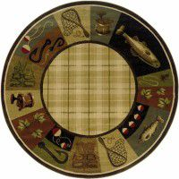 Fishing Journey Round Rug